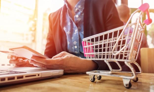 vendas online - carrinho de compras